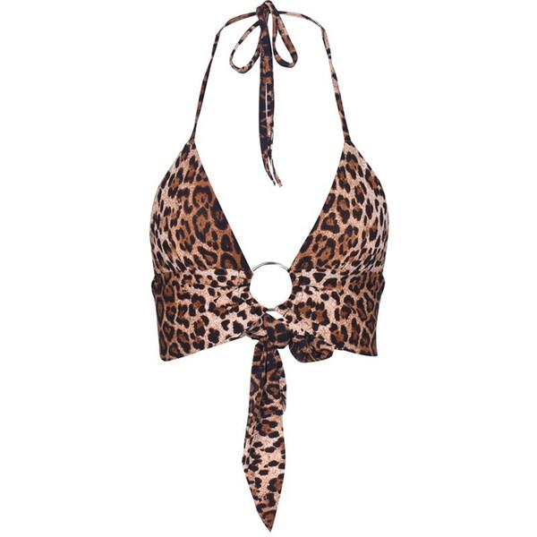 European famous designer design new hot fashion personality summer classic leopard bra bra back jacket club party nightclub ladies hanging n