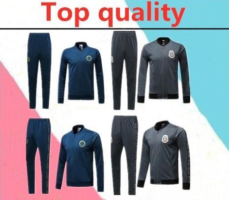 Survêtement survêtement Mexique 2019 19/20 camisas de futebol Survêtement Mexique CHICHARITO équipe nationale de Colombie veste longue veste à glissière