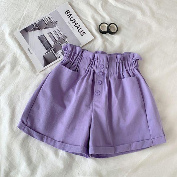 pantaloncini viola