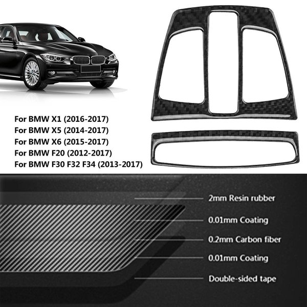 Car Carbon Fiber Reading Light Cover Trim for BMW X1 X5 X6 F20 F30 F32 F34