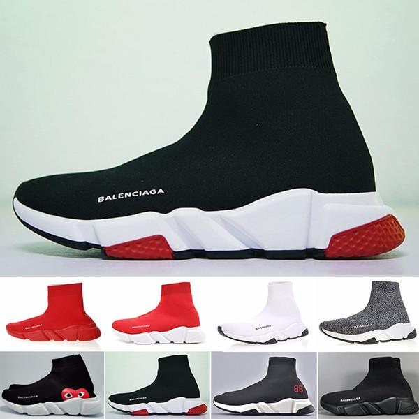 Socke Schuhe Freizeitschuh Speed Trainer Hochwertige Sneakers Speed Trainer Socke Race Runners schwarz Schuhe Herren und Damen Freizeitschuh KCI65-N2