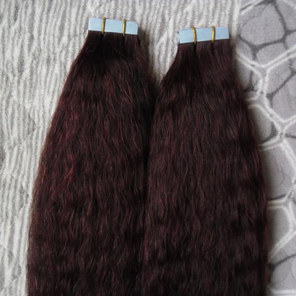 Лента в наращивании человеческих волос кудрявая прямая