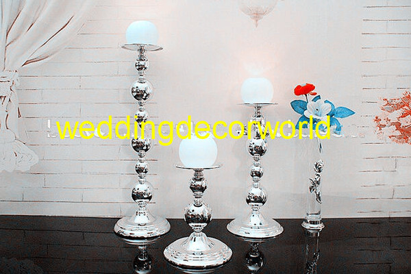 Candle holder sliver , candelabra for wedding decoration, centerpieces for wedding table in event&party supplies decor 417