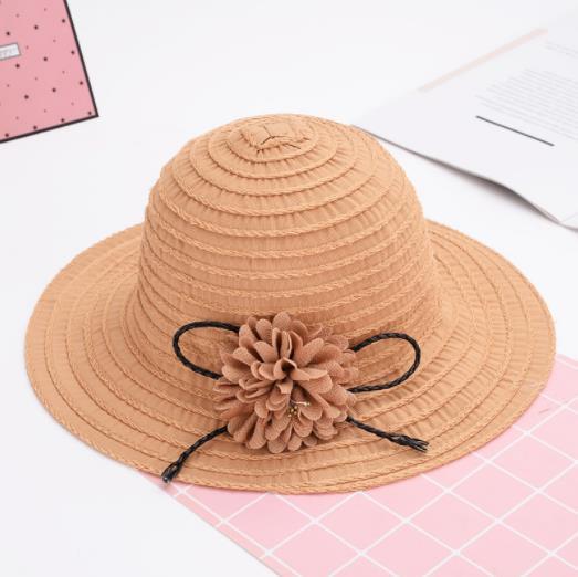 2019 nouvelle version coréenne chaude du chapeau de pêcheur pliable fleurs écran solaire chapeau de soleil rayé plage voyage parasol national