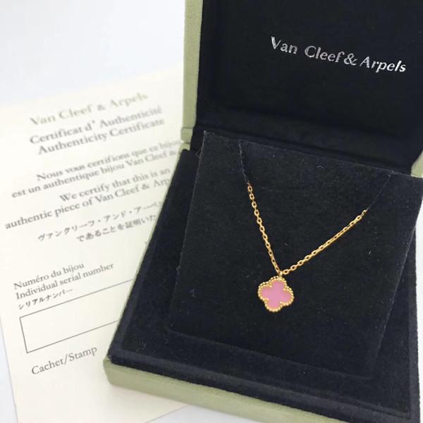 Gold + rosa Halskette