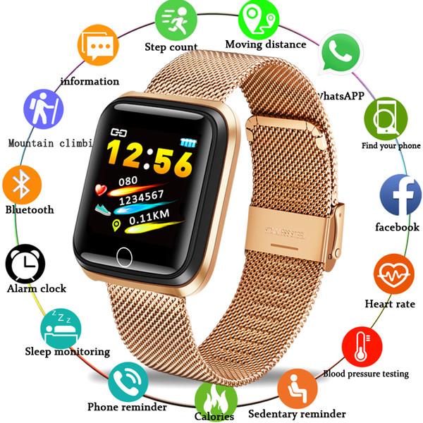 BANGWEI Смарт Часы Мужские Женские спортивные часы сердечного ритма Монитор артериального давления Фитнес Шагомер Tracker SmartWatch для IOS Android
