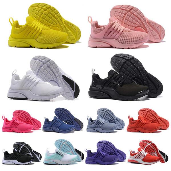 Новые Presto BR QS Мужские женские кроссовки Тройной Черный Белый красный розовый синий кроссовки спортивные кроссовки кроссовки спортивные Бег размер 36-45