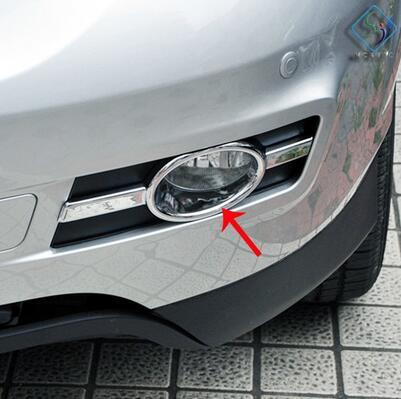 ABS Chrome 2pcs Front Fog Light Lamp Bumper Chrome Trim Cover For BYD S6 2011 2012 2013 2014 2015 2016 2017 Car Styling Sticker Accessories