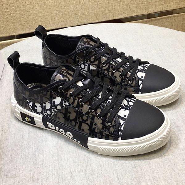 Zapatos de hombre de moda con caja Chaussures de lujo para hombre para hombres Walk'n 'Sneaker en lienzo bordado oblicuo Zapatos de moda de lujo para hombres Hot
