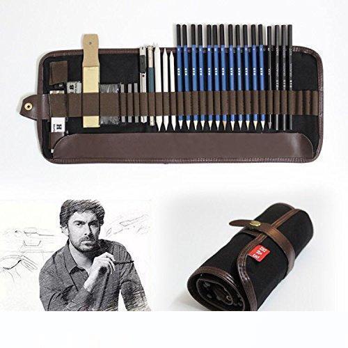 Tinpa 33 шт Карандаши Набор Профессиональный эскиз рисования Карандаш с графитом Карандаши, Угольные карандаши, нож ремесла, поставка для художника