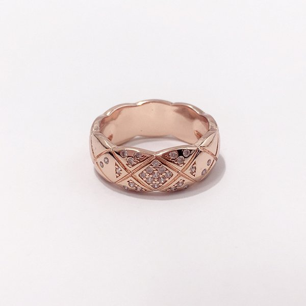 anello stretto in oro rosa