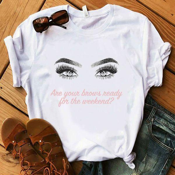 Paris Style T Shirt Femmes 100% Coton Chemise D'été Lady Floral Boucle D'oreille Rose À Talons Hauts Chat Hauts Cadeau Harajuku De Luxe T-shirt