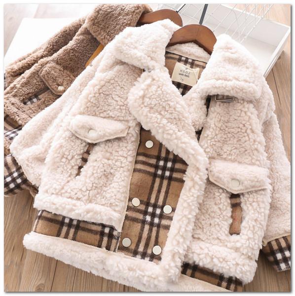 Infant Baby Corduroy Plush Lining Coat Lapel Warm Children Jacket Winter Outwear