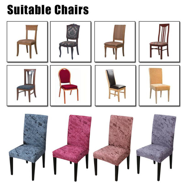 2/Chair Cover Spandex Slipcovers For Dining Room Stretch Elastic Seat  Protector Banquet Hotel Kitchen Wedding Anti Dust Wedding Chair Covers To  Buy ...