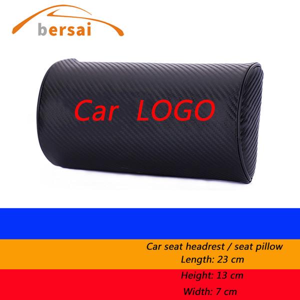 1 unid Estilo de fibra de carbono de Alta calidad Asiento de Coche Cuello Almohada diseño de coche Para Automóvil asiento interior reposacabezas accesorios para automóviles