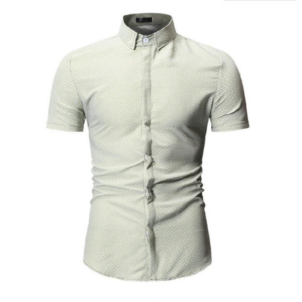 New Summer Fashion Mens Shirt Slim Fit Short Sleeve Floral Shirt Mens Clothing Trend Plus Size Mens Casual Flower Shirts M-3xl Men's Clothing Shirts