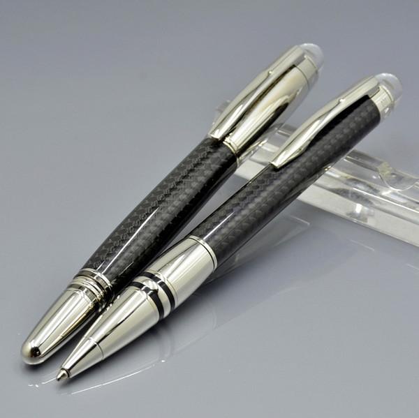 Top Luxury Star-Waiker New element Black Carbon fiber Roller ball Pen Ballpoint pen Business office supplies with Monte Brands Birthday gift