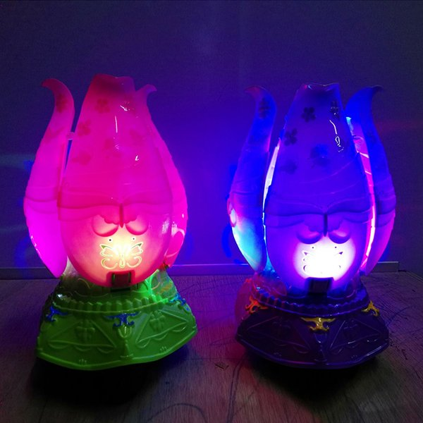 Electronic Pets Rotating light flower bloom music free rotation vocal toy cartoon doll
