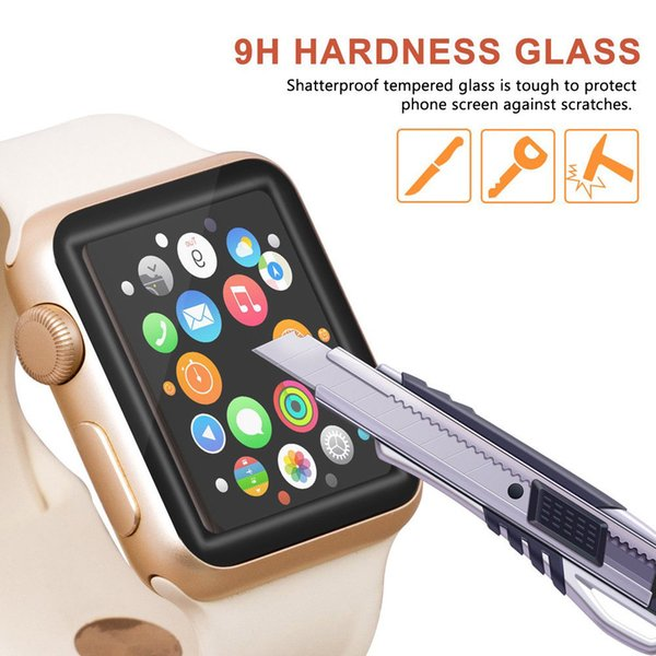 3D Curved Edge Tempered Glass Protective Film Protection For iwatch Apple Watch Series 4 40mm 44mm Full Cover Screen Protector
