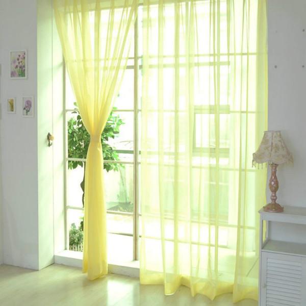 Abstand Gardinen reine Farbe Tüll Türfenstervorhang drapieren Panel Sheer Schal Volants moderne Schlafzimmer Wohnzimmer Vorhänge Cortinas