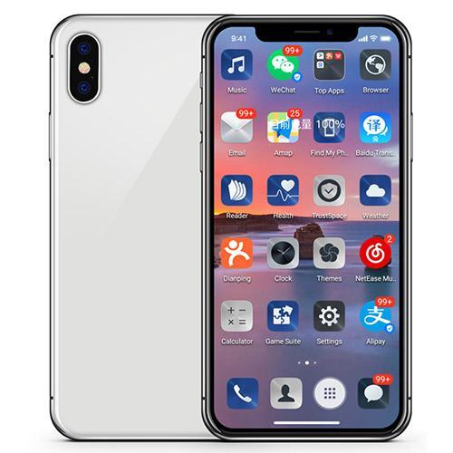 Goophone X XS con Face ID a schermo intero da 5,8 pollici Quad Core MT6580 Real Rom 24 GB Ram da 1 GB Android 7.0 3G a display con sblocco smartphone 4G LTe