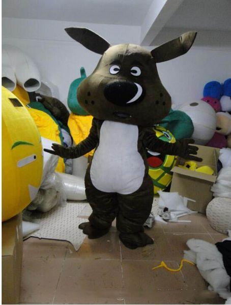 Professional custom Black Dog Mascot Costume cartoon Cartoon big head hound Character Clothes Halloween festival Party Fancy Dress