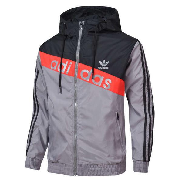 envío libre de la chaqueta de los hombres Windrunner otoño del resorte de capa fina de la chaqueta, los deportes de los hombres de la chaqueta rompevientos explosión modelos negros CSCY ropa pareja