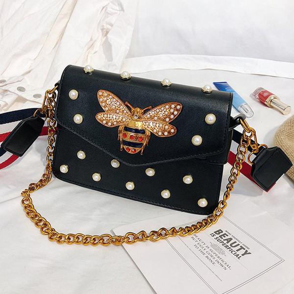 Tracolla All'ingrosso 2019 ape Tracolla larga catena di perle Borsa a tracolla La moda creativa della signora insacca il nuovo stile