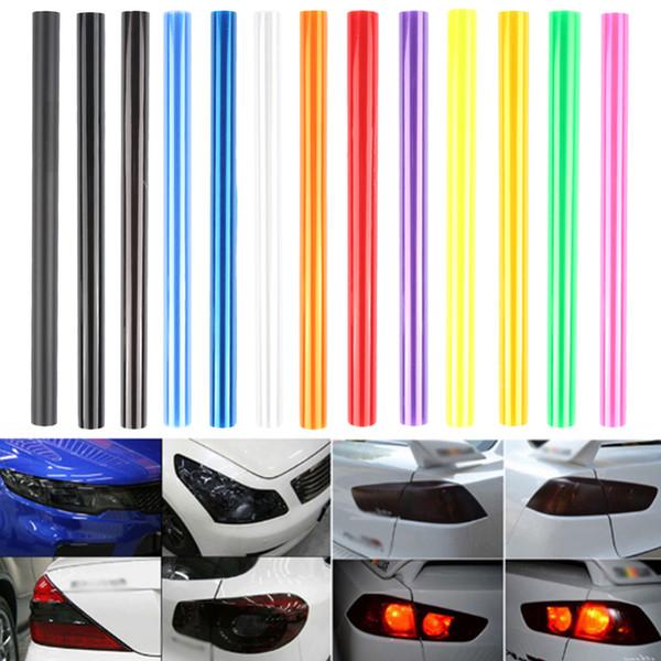 Großhandel 30 Cm X 60 Cm Auto Autotönung Scheinwerfer Rücklicht Nebelscheinwerfer Vinyl Rauchfilm Blatt Aufkleber Abdeckung 12 X 24 Auto Aufkleber