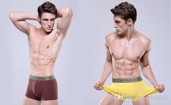 Men Design Cuecas Boxer Golden Tight Waistband Underwear Taille ultra-large Shorts Boxers Slips