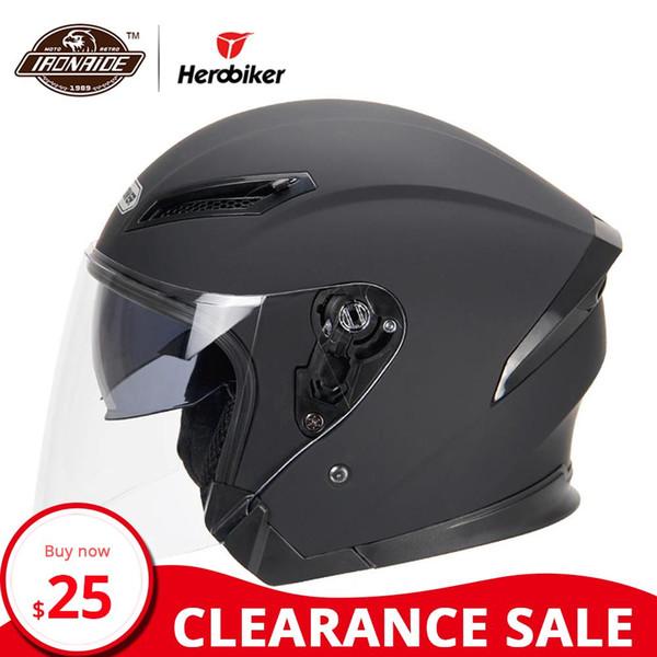 Liquidación HEROBIKER Casco de motocicleta Casco de moto Motocross Casco Moto Para motocicleta 3/4 Cara Cascos Para Moto