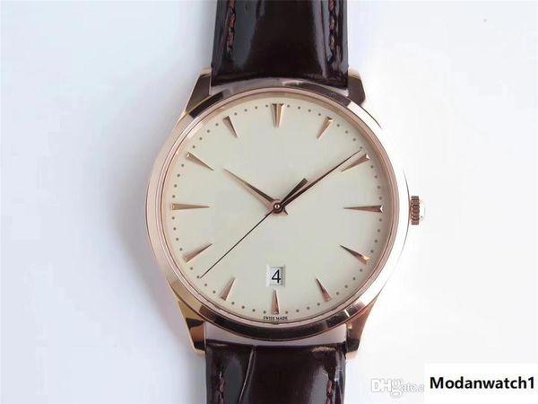 O novo relógio de luxo mestre ultra-fino ZF está equipado com 9015 relógio automático de movimento mecânico de cabelo de luxo 40mmX8mm relógio masculino