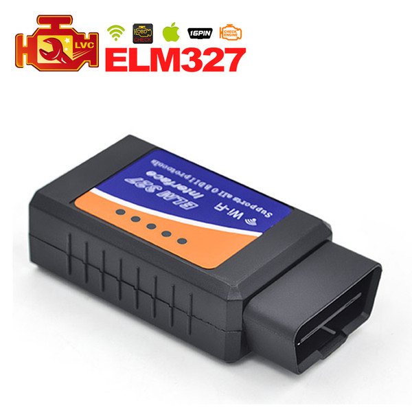20pcs/lot Newest ELM327 WIFI OBDII OBD2 Auto Diagnostic Tool Scanner Support Iphone Ipad / Android / Windows DHL Free Shipping
