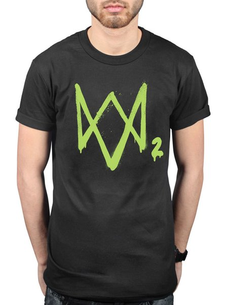 Official Watchdogs 2 Neon Logo Graphic T-shirt Gamer Merch Shooter Entertainment Funny free shipping Unisex Casual Tshirt top