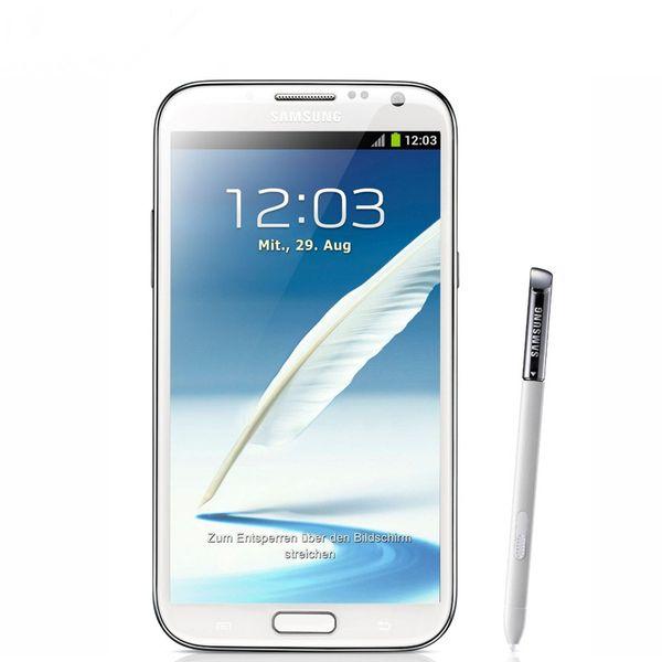 Refurbished Oringnal Samsung Galaxy Note II 2 N7100 Quad Core WCDMA 3G Unlocked Cell Phone 2GB RAM 16GB ROM