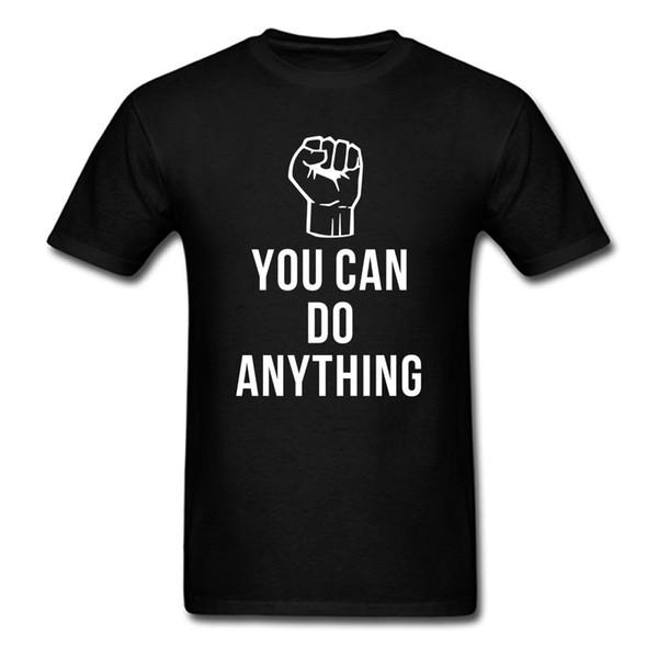 Verão que você pode fazer qualquer coisa palavras camiseta harajuku engraçado slogan manga curta homens mulheres tees tops roupas de marca de algodão camisas