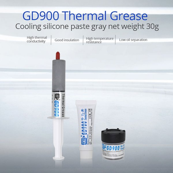 TISHRIC 30g GD900 Heatsink Plaster Thermal Paste CPU GPU Conductive Grease Compound Glue Adhesive Silicone for Processor Cooler