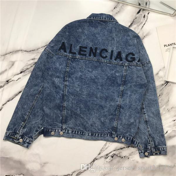19fw luxurious brand design BB back letters embroidery denim jeans jacket Men Women Casual Streetwear Sweatshirts Outdoor Shirts