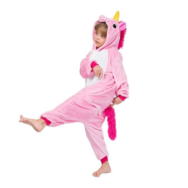Eoicioi Pajamas For Boys Children's Christmas Pajamas Stars Pink Unicorn Baby Girls Sleepwear Warm Pyjamas Kids Pegasus Onesie J190520