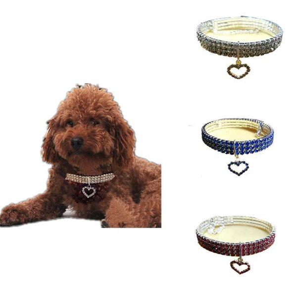 Designer pet collar dog necklace new pet supplies three rows of elastic cat and dog pet collar cross-border E-commerce 080502