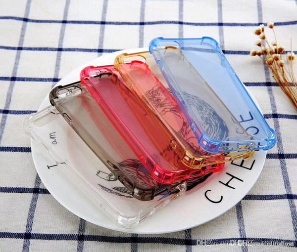 Lüks TPU silikon tampon temizle sert geri anti şok kılıf iphone 6 6 artı 7/8 7 artı / 8 artı vaka iphone x vaka