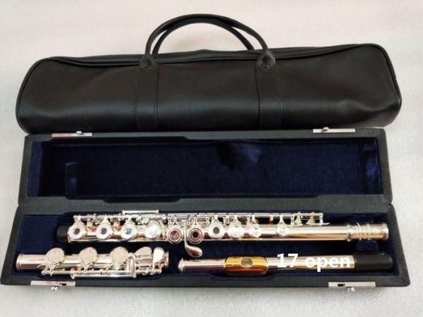 Nova flauta YFL-471H Flauta De Ouro Bocal De Ouro C tune 17 instrumentos abertos E chave flauta Musical Presente Livre
