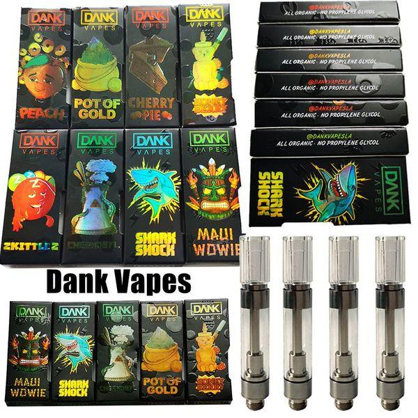 MT6 G5 Black Dank Vapes Cartridge Empty Vape Pen Cartridges 1.0ml Ceramic Thick Oil Vaporizer Atomizer 510 Battery cigarettes électroniques