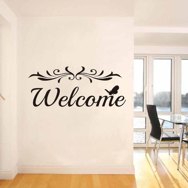 Benvenuto Vinile Stickers murali Home Door Decoration Wall Può essere adesivi Art Mural Modern Residential Decoration