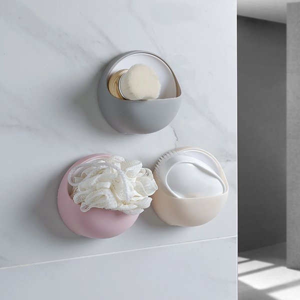 Porte-savon mural de cuisine Égoutter creux boîte à savon Freeship Nouveau porte-savon de bain multi-fonctionnelle forte Sucker ZJ0800