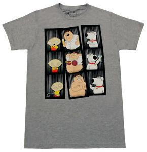 Adult Men 039 s New Stewie Peter Brian Funny Photo Poses Heather Gray T shirt