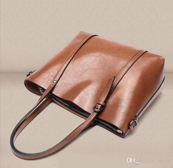 Lederhandtaschen Große Frauentasche Hochwertige Casual Trunk Tote Spanische Marke Umhängetasche Damen Große Taschen Offene Tasche NEU