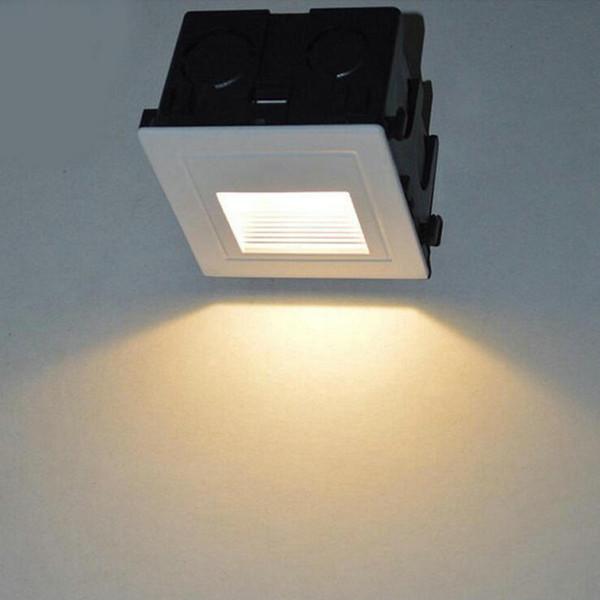 2 adet s3W LED Gömme Merdiven Adım Işık Açık Zemin Merdiven Güverte Yeraltı Spotlight Bahçe Peyzaj Duvar Işık inground işık AC85-265V