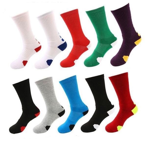 Los hombres al por mayor espesan los calcetines de la toalla de los deportes al aire libre calcetines de alta calidad de los hombres de la élite rofessional calcetines del fútbol del baloncesto Envío libre
