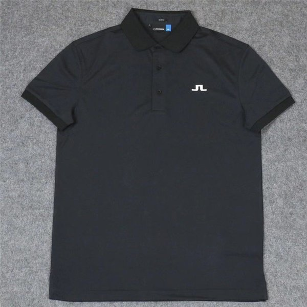 Male JL Golf Trainning T Shirts Short Sleeve Sport Turn-down Collar Clothing Golf T-Shirts For Men S-XL 6 Colors Free Shipping